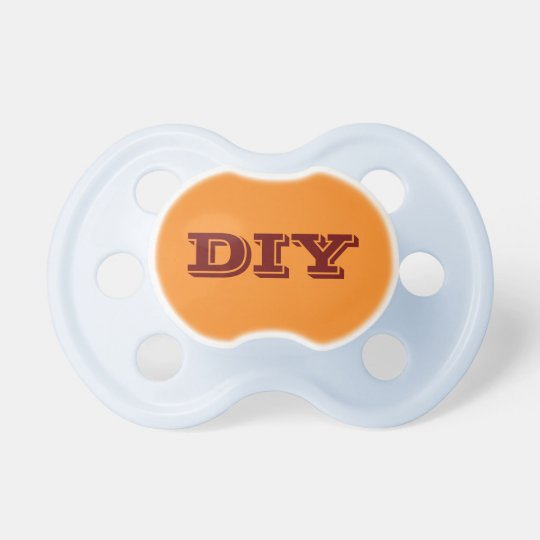 Baby Boy Pacifier: Orange Dummy