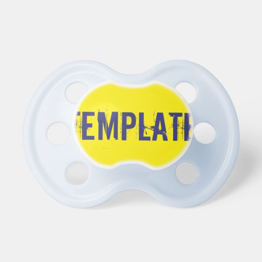 Baby Boy Pacifier: Yellow Dummy