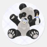Baby Boy Panda Bear Stickers