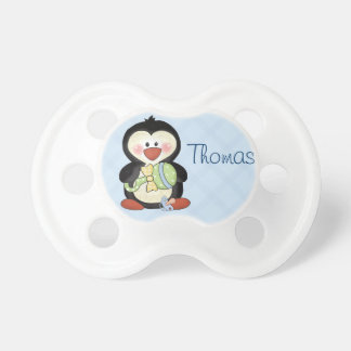 Baby Boy Penguin Pacifier to Personalize