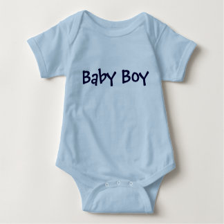 Baby Boy Personalizable Blue Lettering Baby Bodysuit