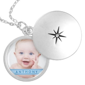 Baby Boy Photo Necklace