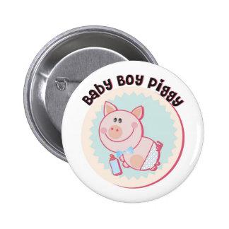 Baby_Boy_Piggy Pinback Buttons