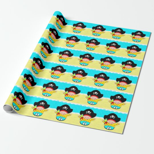 Baby Boy Pirate Wrapping Paper