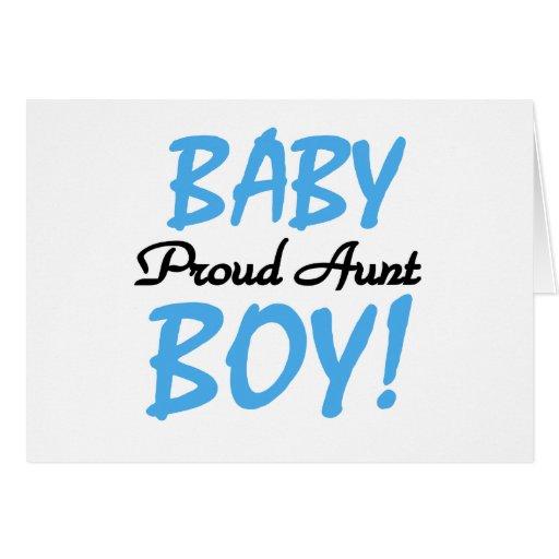 Baby Boy Proud Aunt Card
