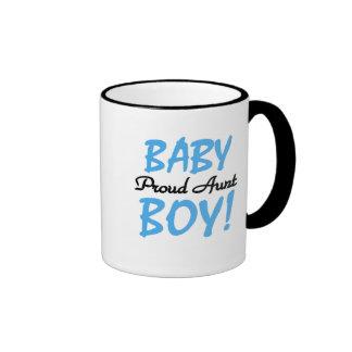 Baby Boy Proud Aunt Ringer Mug