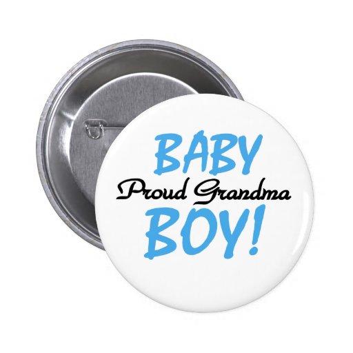 Baby Boy Proud Grandma 6 Cm Round Badge