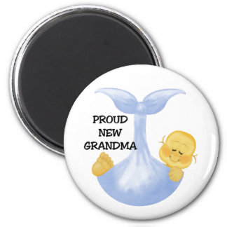 Baby Boy Proud Grandma 6 Cm Round Magnet
