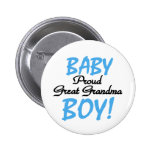 Baby Boy Proud Great Grandma Buttons