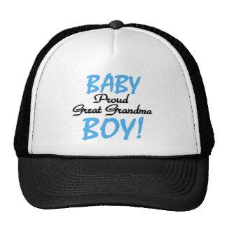 Baby Boy Proud Great Grandma Cap