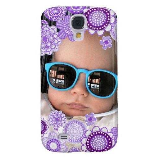 Baby Boy Purple Painted Fine Art Photo Frame Samsung Galaxy S4 Cover