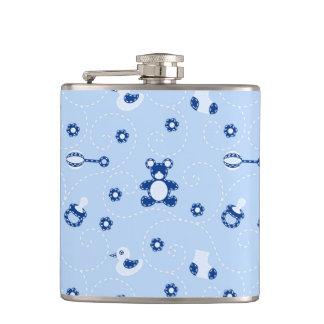 Baby-boy Quilt Pattern Hip Flask