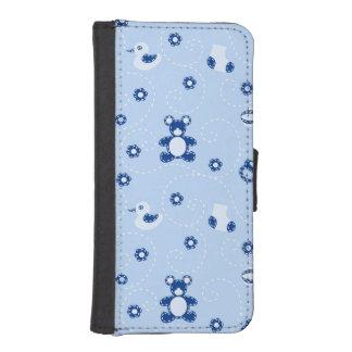 Baby-boy Quilt Pattern iPhone SE/5/5s Wallet Case