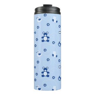 Baby-boy Quilt Pattern Thermal Tumbler
