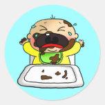 Baby boy round sticker