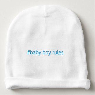 Baby boy rules beanie baby beanie