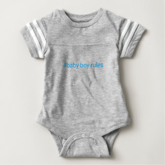 Baby boy rules sports suit baby bodysuit