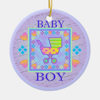 Baby Boy Save the Date Ornament
