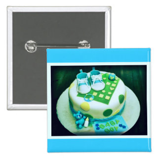 Baby Boy Shower Cake Buttons