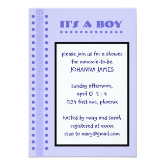baby boy shower 4.5x6.25 paper invitation card