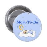Baby Boy Shower Mummy Pin Button