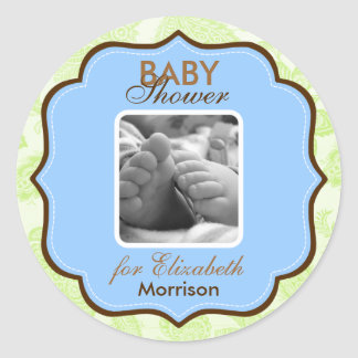 Baby Boy Shower Stickers