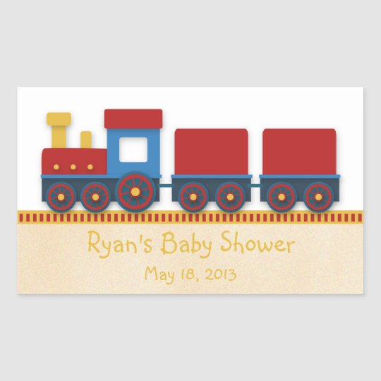 Baby Boy Shower: Yellow, Red & Blue Train