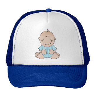 Baby Boy Sitting Mesh Hat