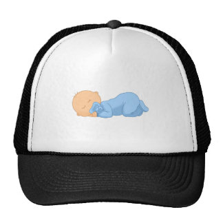 BABY BOY SLEEPING TRUCKER HAT