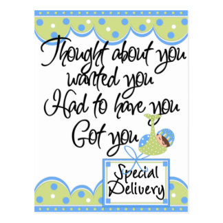 Baby Boy Special Delivery Cards Postcard