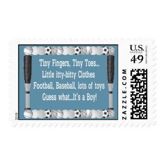 Baby Boy Sports Shower Stamps