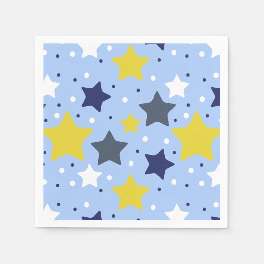 Baby Boy Star Light Paper Napkin