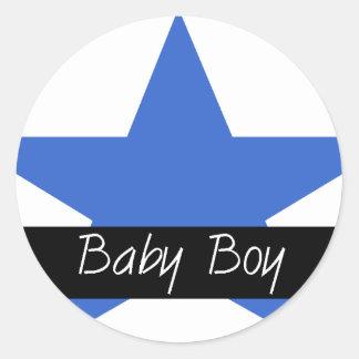 baby boy star merchandise classic round sticker