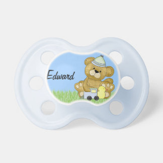 Baby Boy Teddy Bear to Personalize Dummy
