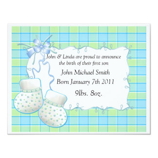 Baby BOY TEMPLATE Booties Announcement