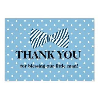 Baby Boy Thank You Card, Little Man Bow Tie Card