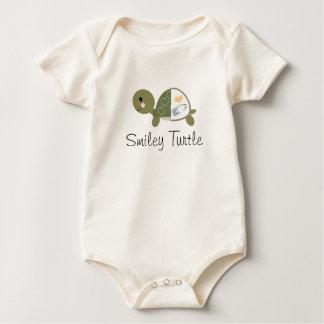 Baby Boy Turtle Organic Infant Creeper Blue Diaper