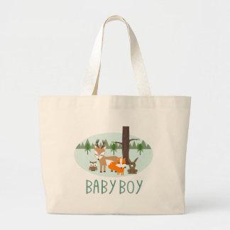 Baby Boy Woodland Tote Bag