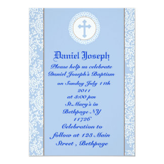 Baby Boys Baptism/Christening Personalized Invitation