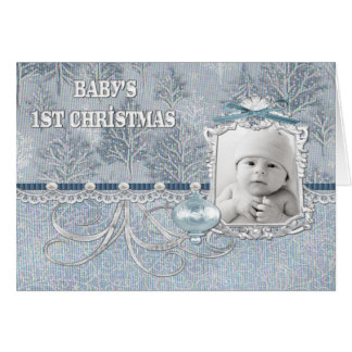 Baby Boys First Christmas Card