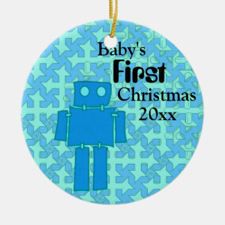 Baby Boy's First Christmas Christmas Ornament