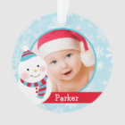 Baby Boy's First Christmas | Winter Friends Ornament