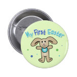Baby Boy's First Easter 6 Cm Round Badge