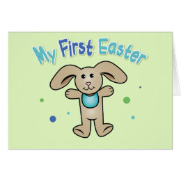 My first easter gifts on zazzle uk baby boys first easter card negle Choice Image