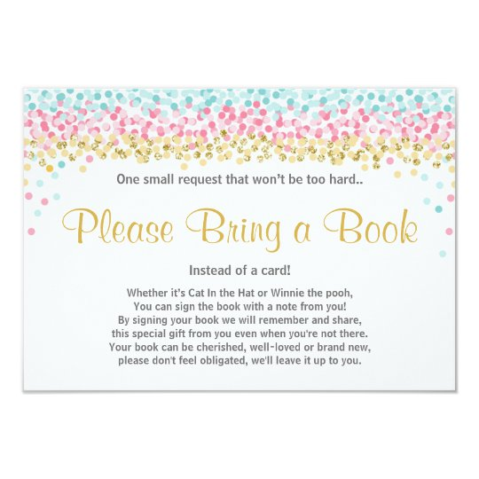 Baby Bring a book Insert Pink Gold Mint