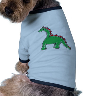Baby Brontosaurus Cartoon Doggie Tee