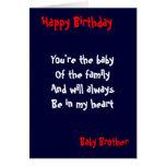 Baby brother Birthday Greeting Card