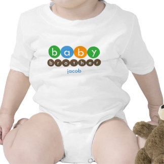 Baby Brother Dots Personalized Tshirt