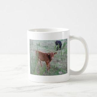 Baby Brown Cow . Basic White Mug