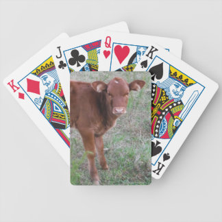 Baby Brown Cow face Poker Deck